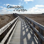 CD cover for 'east' folk/pop CD by Campbell + Green
